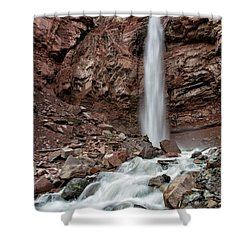 Cornet Falls In Spring Shower Curtain