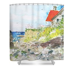 Cornfield Point Old Saybrook Shower Curtain