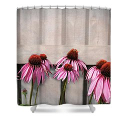 Coneflower Couples Shower Curtain