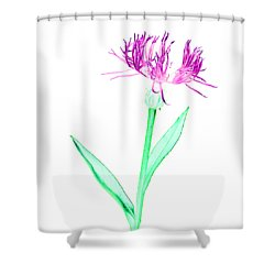Cornflower3 T-shirt Shower Curtain