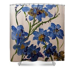 Cornflowers Cousins Shower Curtain