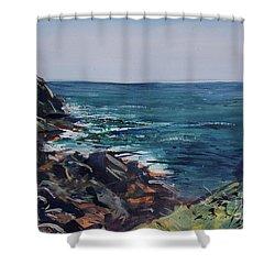 Cornish Clffs Shower Curtain