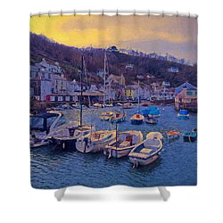 Cornish Fishing Village Shower Curtain