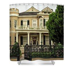 Cornstalk Fence Shower Curtain