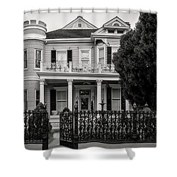 Cornstalk Fence In Black And White Shower Curtain
