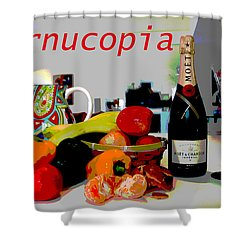 Cornucopia Shower Curtain by Charles Shoup