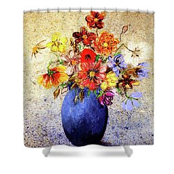 Shower Curtain featuring the painting Cornucopia-still Life Painting By V.kelly by Valerie Anne Kelly