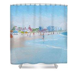Coronado Beach San Diego Shower Curtain by Jan Matson