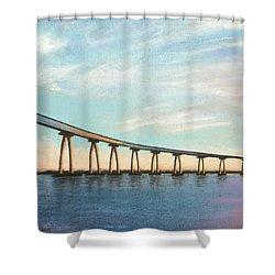 Coronado Bridge Sunset A Shower Curtain