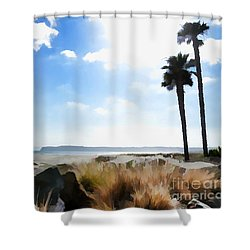 Coronado - Digital Painting Shower Curtain
