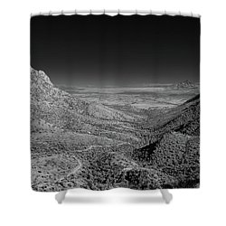 Coronado National Memorial In Infrared Shower Curtain