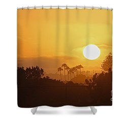 Shower Curtain featuring the photograph Coronado Sunset by Suzanne Oesterling