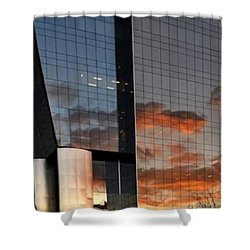 #corporative #architecture At Dusk Shower Curtain by Carlos Alkmin