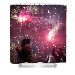 Correfoc Fallas 2015 Shower Curtain