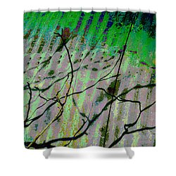 Corregated Shadows Shower Curtain by Jan Amiss Photography
