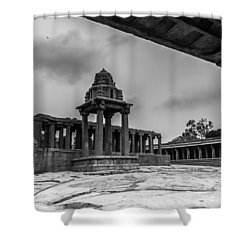 Shower Curtain featuring the photograph Corridor Of Temple by Ramabhadran Thirupattur
