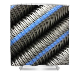 Corrugated Drain Pipe Shower Curtain