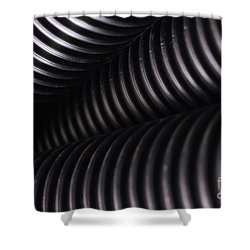 Corrugated Drain Pipe Shadow Shower Curtain