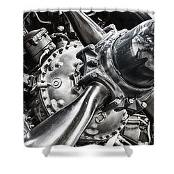 Corsair F4u Engine Shower Curtain