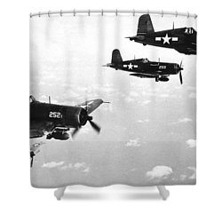 Corsair Planes  Us Airforce Shower Curtain by American School