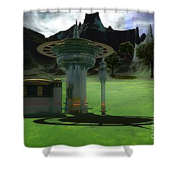 Corsicadian Shower Curtain by Corey Ford