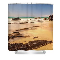 Corunna Point Beach Shower Curtain