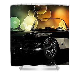 Corvette 1961 Shower Curtain by Louis Ferreira