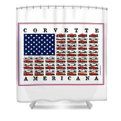 Corvette Americana Shower Curtain