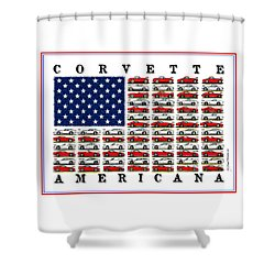 Corvette Americana Shower Curtain