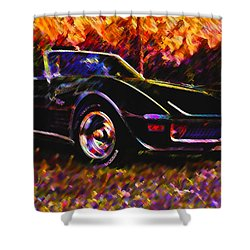 Corvette Beauty Shower Curtain by Stephen Anderson