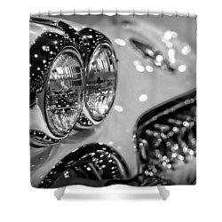 Corvette Bokeh Shower Curtain by Gordon Dean II