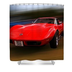 Corvette Stingray Shower Curtain