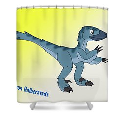 Cory The Raptor Shower Curtain