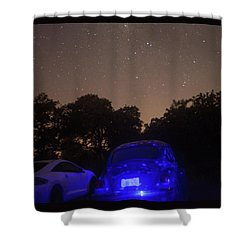 Cosmic Beetle 7 Shower Curtain by Carolina Liechtenstein