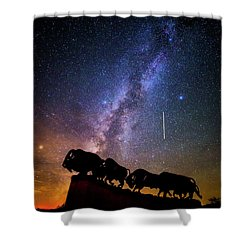 Shower Curtain featuring the photograph Cosmic Caprock by Stephen Stookey
