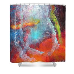 Fantasies In Space Series Painting. Cosmic Concerto Shower Curtain