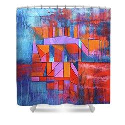 Cosmic Garage Shower Curtain by J W Kelly