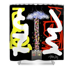 Cosmic Geisha - Angry Mountain Messenger Shower Curtain