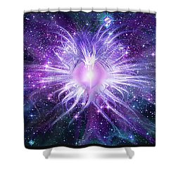 Cosmic Heart Of The Universe Mosaic Shower Curtain