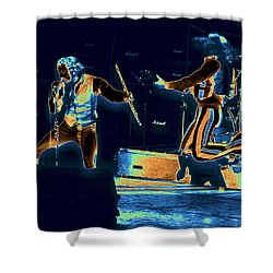 Shower Curtain featuring the photograph Cosmic Ian And Leaping Martin by Ben Upham