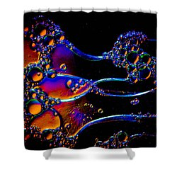 Cosmic Manowar Shower Curtain by Bruce Pritchett