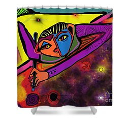Cosmic Pool Shower Curtain