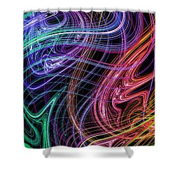 Cosmic Radiation Shower Curtain by Mark Blauhoefer