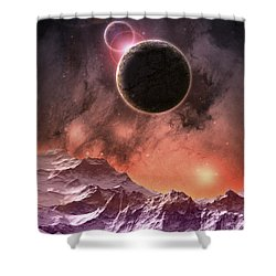 Cosmic Range Shower Curtain by Phil Perkins