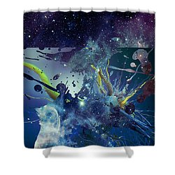 Cosmic Resonance No 1 Shower Curtain