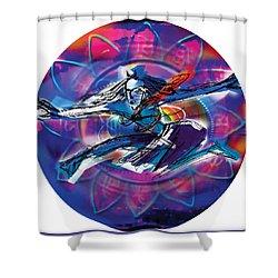 Cosmic Shiva Speed Shower Curtain
