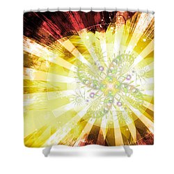 Cosmic Solar Flower Fern Flare 2 Shower Curtain