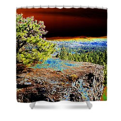 Cosmic Spokane Rimrock Shower Curtain