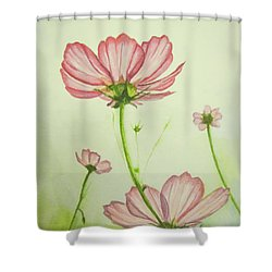 Cosmos Way Shower Curtain by Annie Poitras