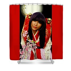 Cosplayer In Japanese Costume Shower Curtain